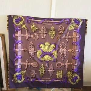 Hermes Silk Scarf.  Authentic